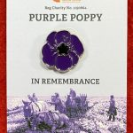 Purple Poppy Badge