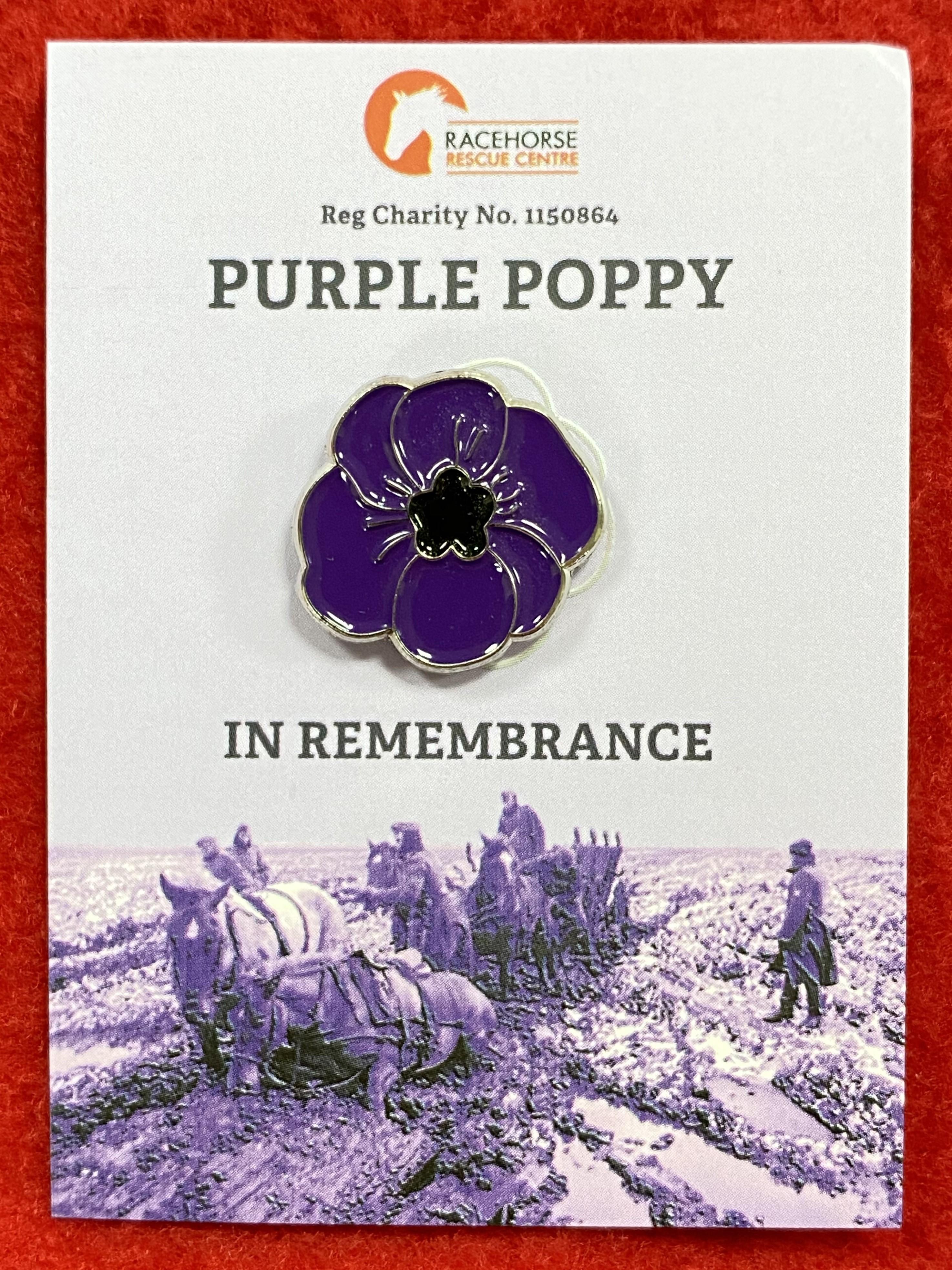 Purple Poppy Badge